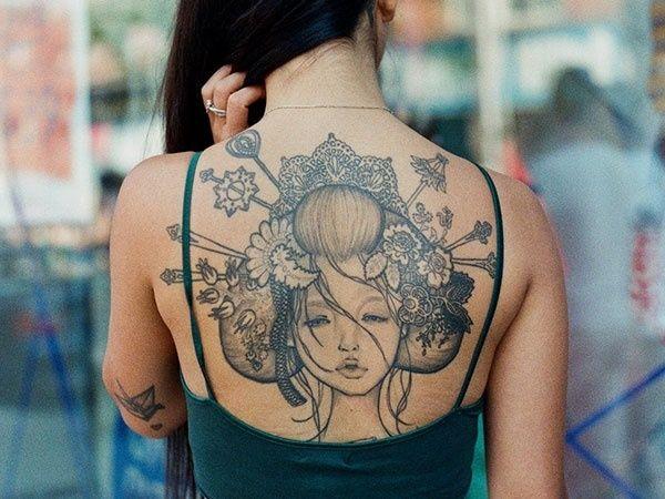 26 best Linear Girl Tattoos images on Pinterest   Tattoo girls ...