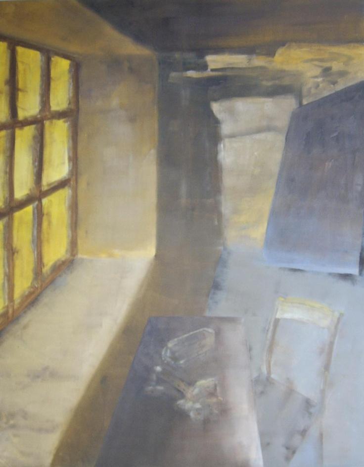 Title = 'Stillife 4 with Window' - ('Stilleven 4 met Venster')  Oil on canvas - (Olieverf op doek)  31.50 in x 39.40 in (80 cm x 100 cm)  Nov 22, 2012 (22 november 2012)  cobalus-schilderingen.blogspot.com