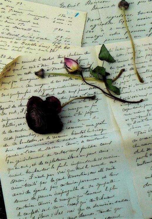 For the letters spelt love and the dim fragrance spread like magic dust...