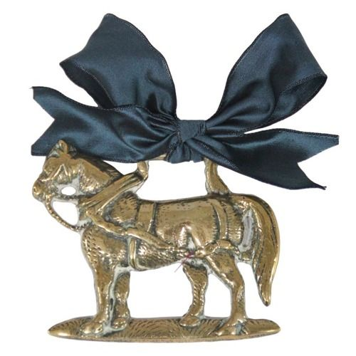 Vintage English horse ornament