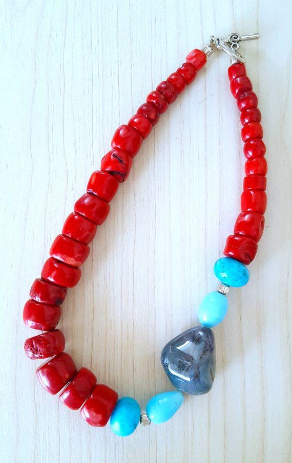 Vendita SUPER... Knockout GlamRox rosso corallo e turchese