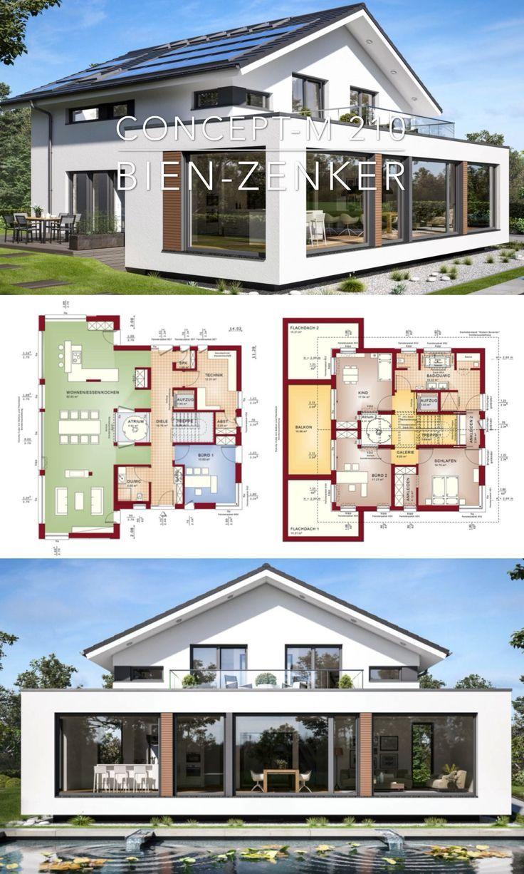 Moderne Villa Hauspläne & Innenarchitektur Design – Concept-M 210