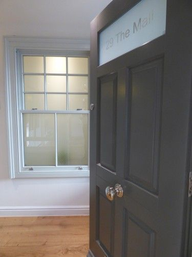 Timber windows and doors now on show in Clifton, Bristol.