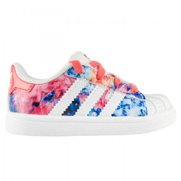 Th Adidas Kid\u0027s Superstar Floral print is the perfect kick to add to your kid\u0027s  shoe rotation.