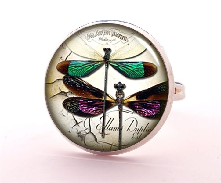 Colorful dragonfly Ring, 0592RS from EgginEgg by DaWanda.com