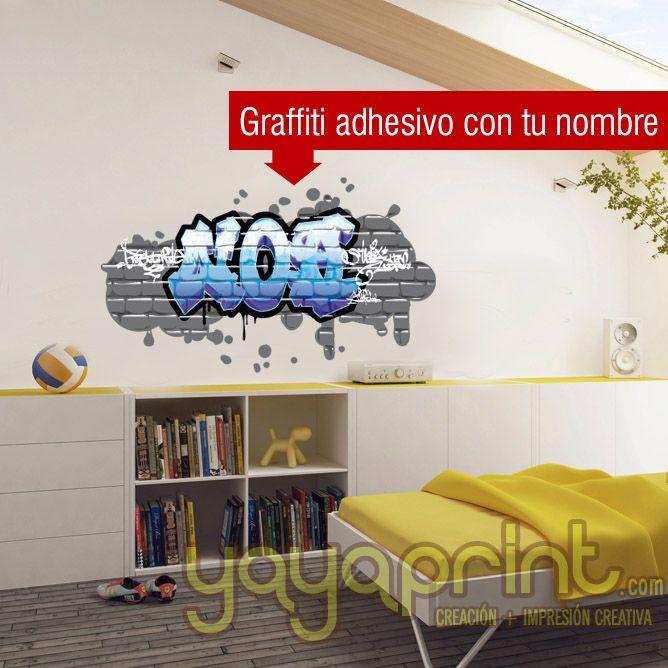 Grafifi con tu nombre hecho en vinilo adhesivo yayaprint - Vinilos con nombre ...