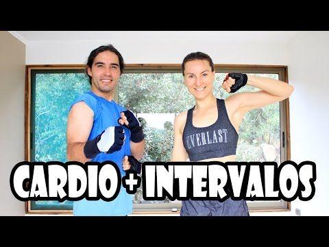 Cardio con INTERVALOS Kick Boxing   Rutina 7 intensa - YouTube