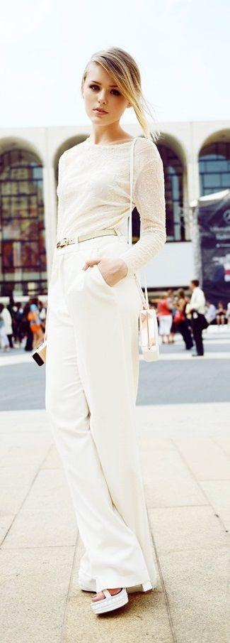 street style all-white @wachabuy