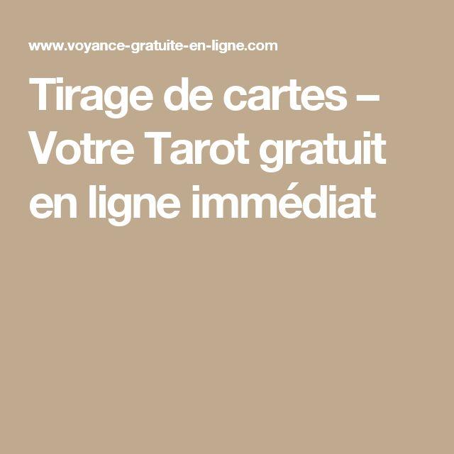 Tirage de cartes – Votre Tarot gratuit en ligne immédiat