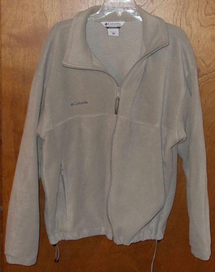 Mens XXL 2XL Columbia fleece Jacket  Gray Zip UP  #Columbia #FleeceJacket
