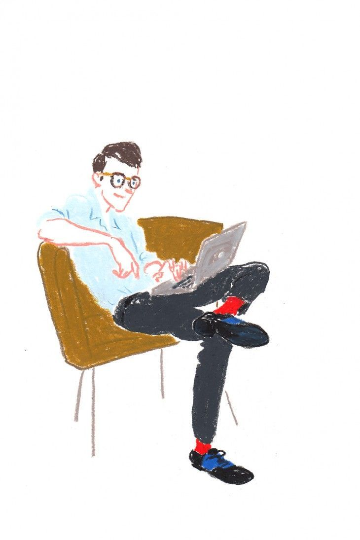i'm interested in illustrating people 'doing' things - people using the ceramic products. This is a cool style of illustration! Very different to my own personal style but love the use of colour.