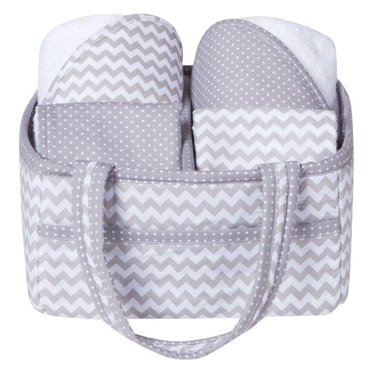 Trend Lab 5-Pc. Baby Bath Gift Set, Med Grey