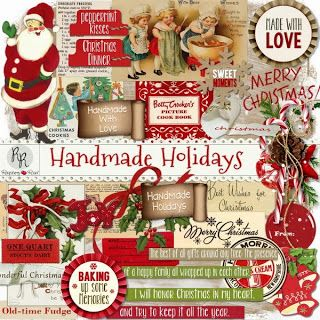 A set of Christmas ephemera designed to coordinate with the Handmade Holidays collection.