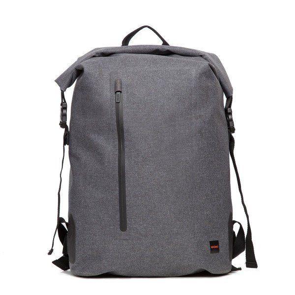 "Cronwell 15"" Roll Top Waterproof Laptop Backpack- Grey"