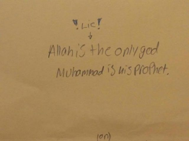 7TH GRADERS IN TENNESSEE MADE TO RECITE 'ALLAH IS THE ONLY GOD' IN PUBLIC SCHOOL ATHEISTS ARE SILENT ON THIS ONE, WHY??