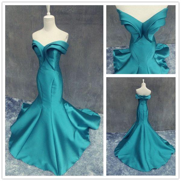 Moderne vert émeraude longues robes de soirée 2016 à moins de 100 $ sweetheart Ruffles sirène robe de soirée formelles de femmes Events Special Occasion Dress