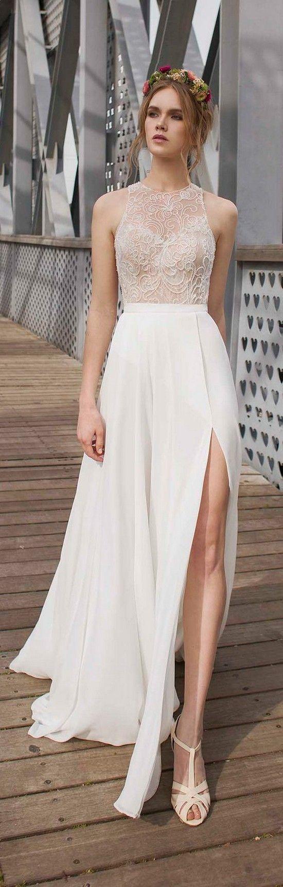 56 best Beach Wedding Dresses images on Pinterest | Hochzeitskleider ...