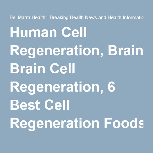 Human Cell Regeneration, Brain Cell Regeneration, 6 Best Cell Regeneration Foods