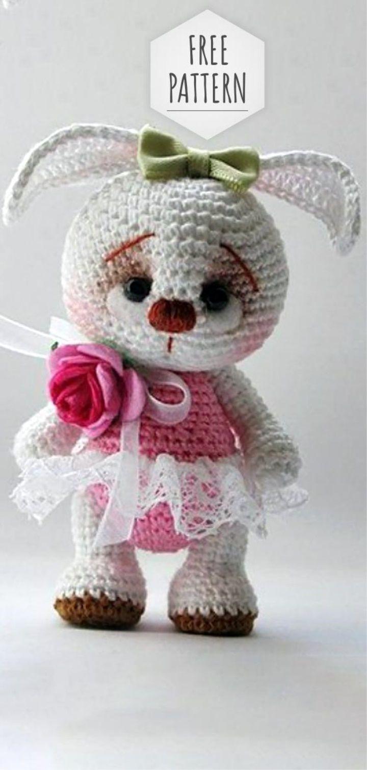 Free Pattern Amigurumi Sweet Bunny Häkeln Stricken Pinterest