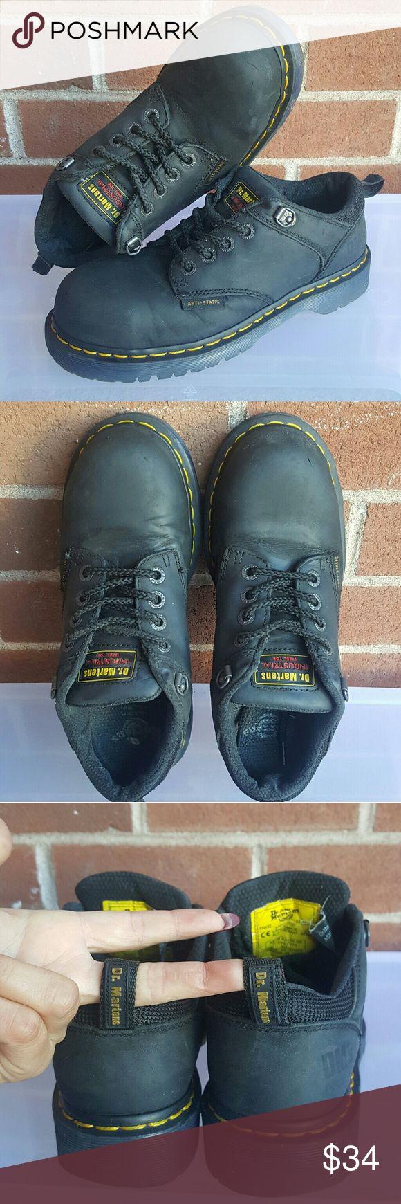 Doc Dr Martens Industrial Steel Toe Shoes Dr Martens Size 7M Ashridge Industrial Work Steel Toe Safety Slip Resistant Shoes Dr. Martens Shoes