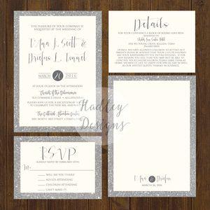 Modern Wedding Invitations, Elegant Wedding Invites, Classic Wedding  Invitations, Formal Wedding Invite,