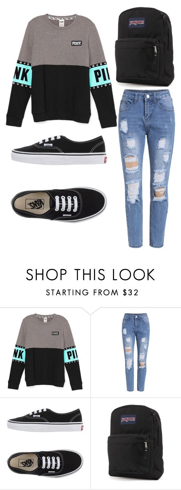 """""""School Comfy"""" by oliviamca ❤ liked on Polyvore featuring Vans, JanSport, women's clothing, women's fashion, women, female, woman, misses and juniors"""