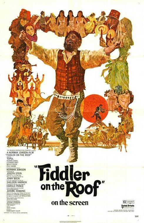 """MP819. """"Fiddler on the Roof"""" Movie Poster by Ted CoConis (Norman Jewison 1971) / #Movieposter"""