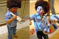 Bob Ross costume... Reminds me of grams @Angela Pagett