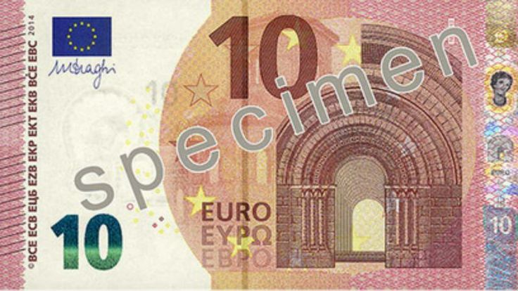 Zo ziet het nieuwe biljet van 10 euro eruit. Op 23 september komt het biljet in omloop.