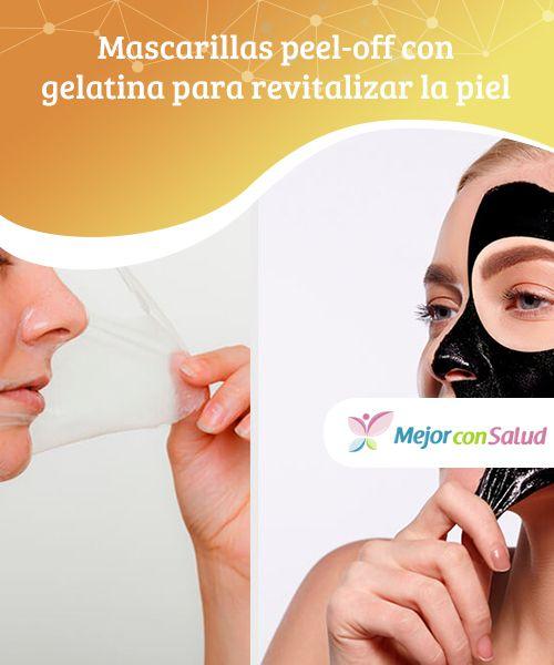 Mascarillas peel-off con gelatina para revitalizar la piel.  En la actualidad, hombres y mujeres utilizan de forma regular mascarillas comerciales y caseras para reparar, nutrir y revitalizar la piel.
