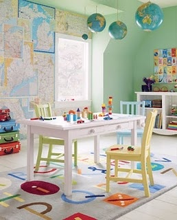 More ideas for a kids crafting/play area