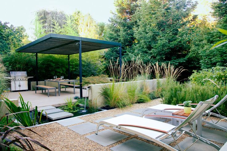 One garden, 4 outdoor rooms--this small Northern California backyard has it all. Plus: Outdoor room design tips