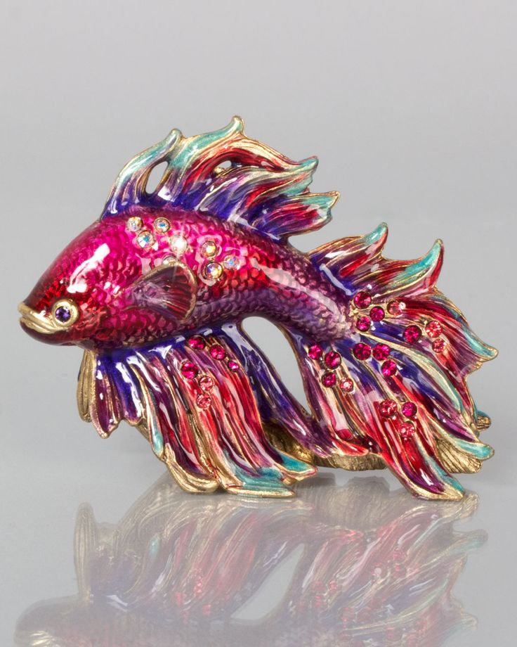 Jeremiah Mini Japanese Fighting Fish by Jay Strongwater at Neiman Marcus.