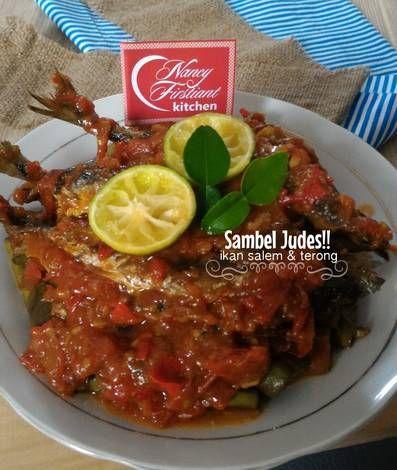 Sambel Judes Ikan Salem dan Terong Goreng