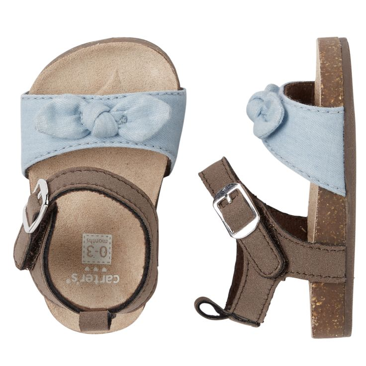 Baby Girl Stuff: Carter's Knot Bow Crib Sandals