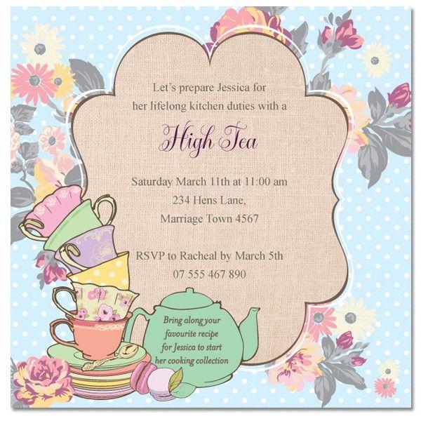 Tea Invitation Templates High Tea Invitation Templates