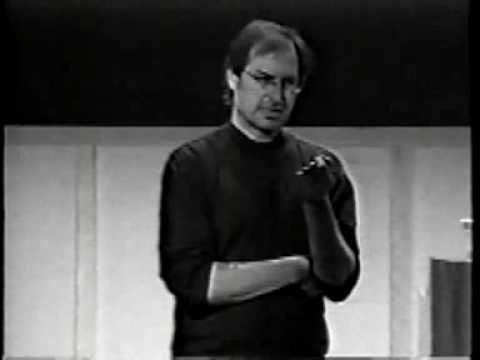"There are well-known professionals worth hearing, and watching. Here is Steve Jobs trying to explain what Marketing is about. Funny enough though: this clip have less viewer than the ""unknown guy"" here beside."