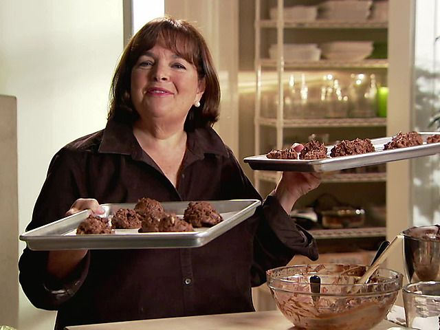 Chocolate Peanut Butter Globs Recipe : Ina Garten : Food Network My mother's favorite chef & now I know why! Yum