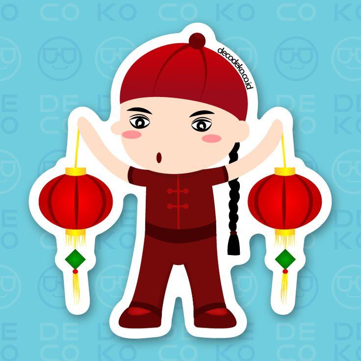 Sticker CNY Boy