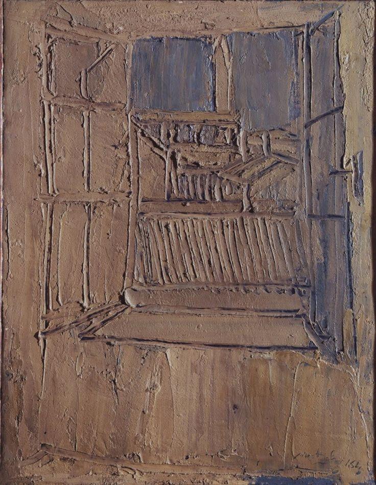 """Scendendo dalla soglia della vecchia casa di Mattioli di gradino in gradino si scopre alla vista, il profilo del Duomo nella sua arcaica immensità di carena abbandonata sporgente dalla distesa dei coppi digradanti come una sterminata pianura di piantagioni sconosciute così fulve e bionde da dare l'illusione del grano appena mietuto. Nessuno dei colori impiegati da Mattioli si ritroverebbe in natura: sono colori """"storici"""" raffinati e impreziositi dal lungo ed estenuante viaggio che la Pittura…"""
