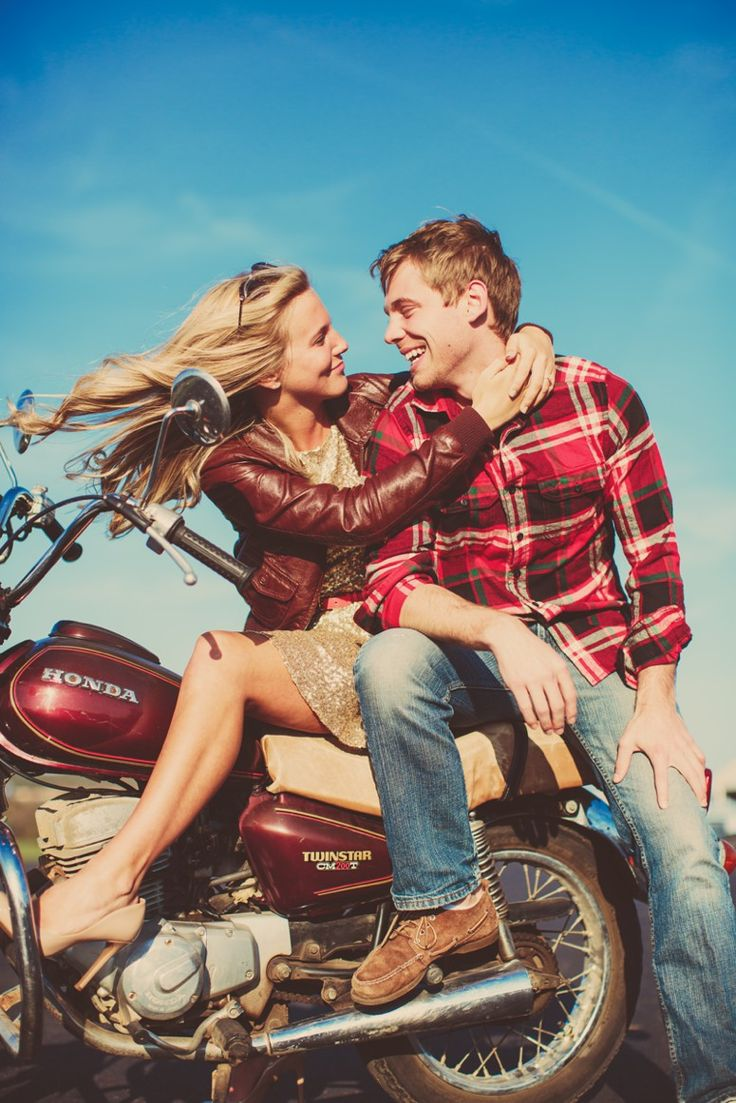 Vintage Airplanes + Motorcycles Engagement Shoot \\ Julie + Shane » Lauren Fair Photography
