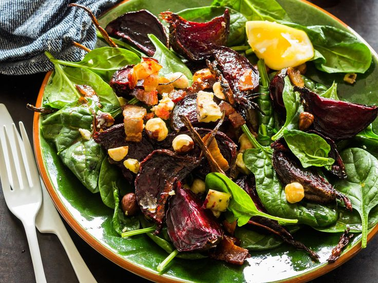 This nutritious warm beetroot salad makes for a simple but filling mid-week meal, or omit the bacon for a tasty side dish to accompany a steak dinner