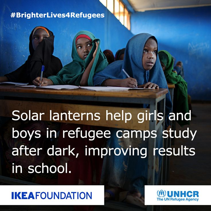 Many refugees living in camps know too well how to live without light. Because of absence or lack of light after sunset their lives are put into danger while children are unable to continue their education successfully. Today we would like to thank you for supporting UNHCR in its efforts to improve their lives. By purchasing a LEDARE LED light bulb from your nearest IKEA store you have contributed to a better future of refugees living in a number of UNHCR camps. #BrighterLives4Refugees