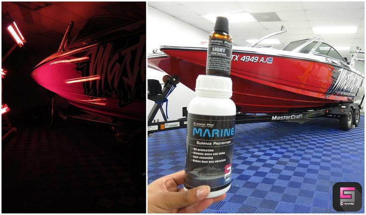 The Master Craft boat protected with Ceramic Pro Marine. Work by @erquickservice   by CeramicPro