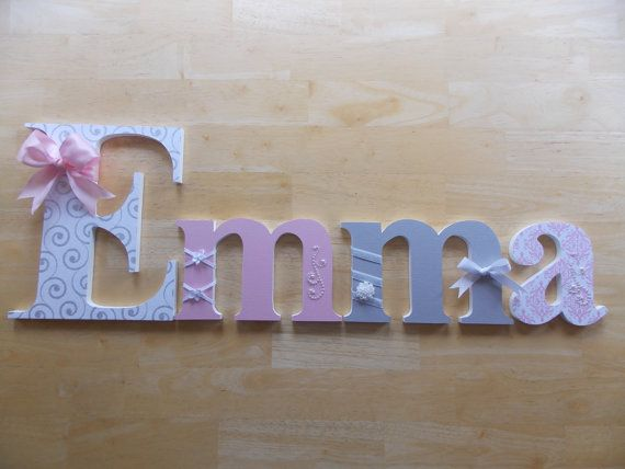 Personalized Wooden Letters for Nursery or by CountingOurBlessings
