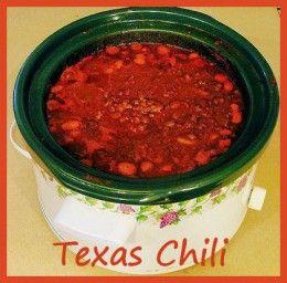 Texas Chili has no beans!