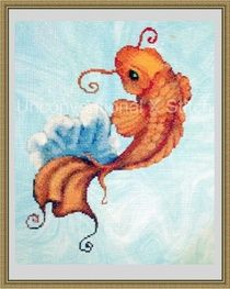 Limited edition cross stitch koi fish kit http://www.unconventionalxstitch.com/apps/webstore/products/show/4563867