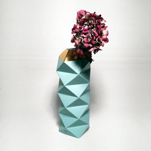CHROME WAVES - Paper vase cover - The Thin Air - Geometric - TEMA #futuredays #paper #vase #geometric #nordicdesign #nordicdesigncollective #nordic #scandinavian #designers