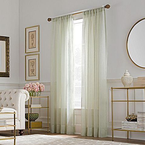 Valeron Belvedere Sheer Rod Pocket Window Curtain Panel