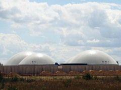Biogasanlage Tierbach bei Leipzig  Foto UDI